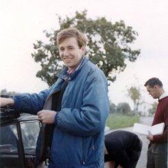 Gary Walker in Italy, testing Imps, 1962