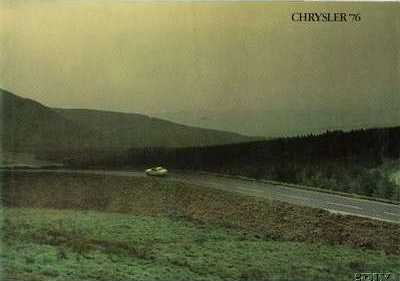 December 1975 Chrysler '76 sales brochure, Publication number C9507/2/20