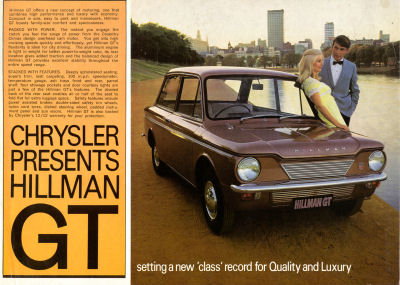 Hillman GT setting a new class record for Quality and Luxury