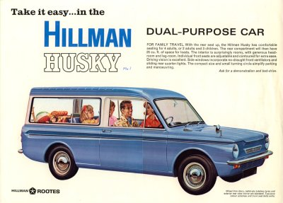 Take it easy in the Hillman Husky, dual-purpose car