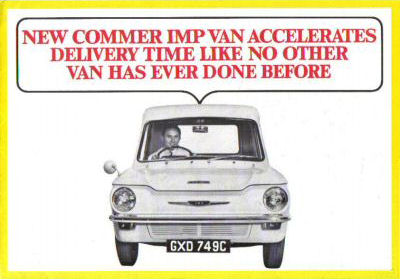 New Commer Imp Van accelerates delivery time like no other van ever done before