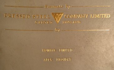 Cover of the Pressed Steel estimate