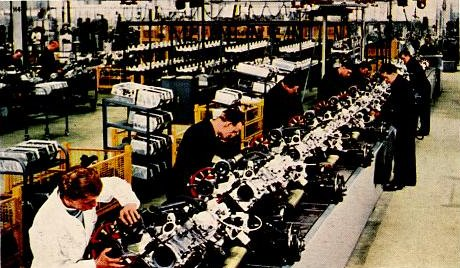Main aisle of die-casting plant