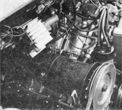 Engine bay, photo taken from the left