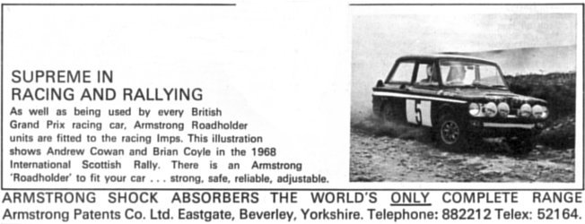 Armstrong shock absorbers using Rootes