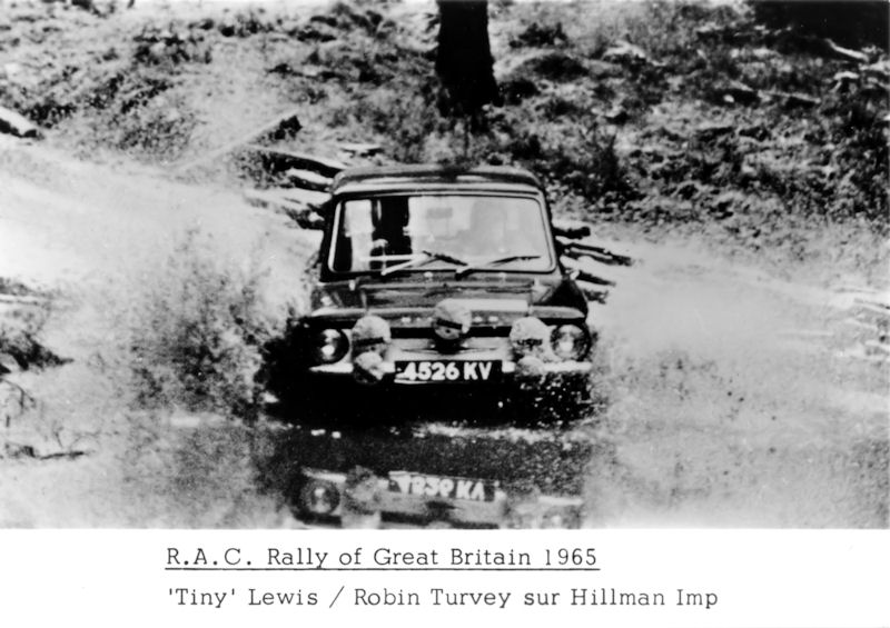 Lewis And Turvey RAC Rally 1966