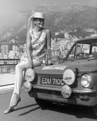 Rosemary Smith triumphs in the 1965 Coupe des Alpes