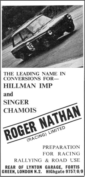 Nathan Racing Ltd, advert CCC - Oct. '65 to July '66
